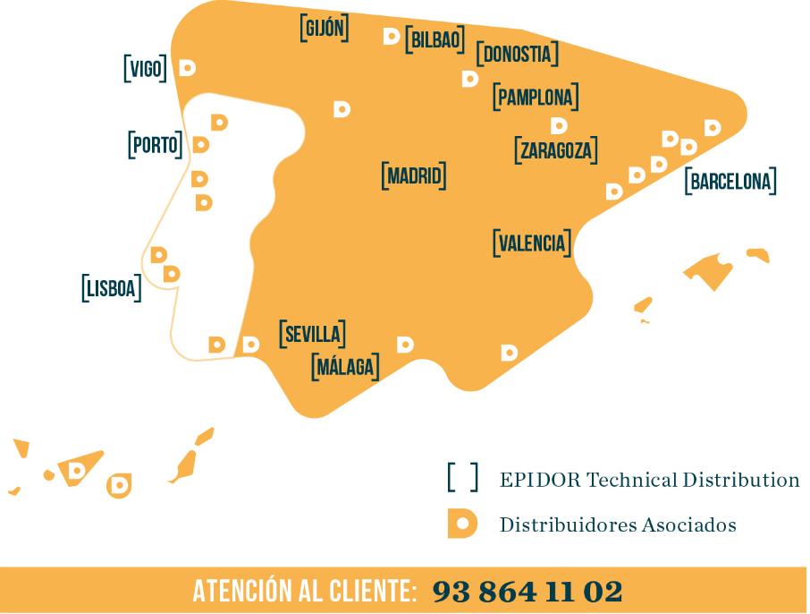 Mapa distribuidores tormetal